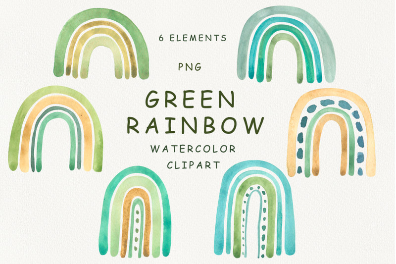 watercolor-green-rainbow-clipart