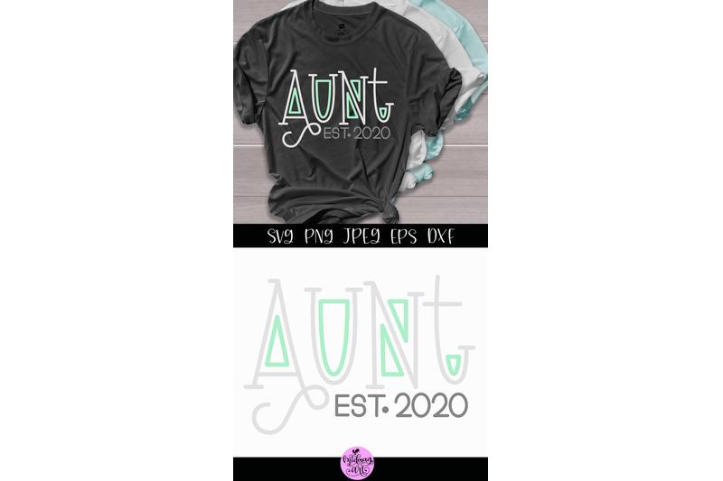 aunt-est-2020-svg-aunt-shirt-svg