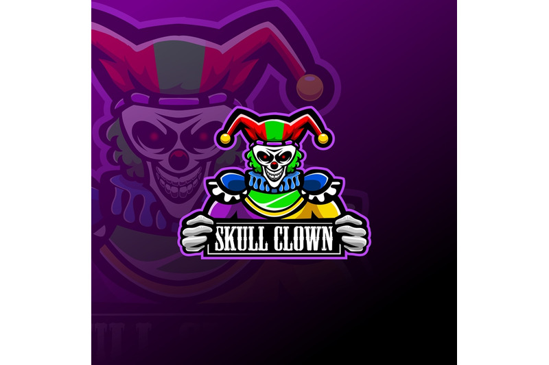 skull-clown-esport-mascot-logo