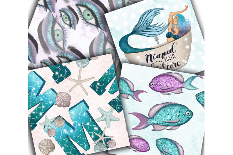 you-039-re-mermaizing-clipart-amp-patterns