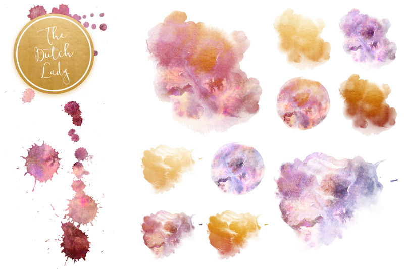 cloudy-watercolor-ink-clipart-set