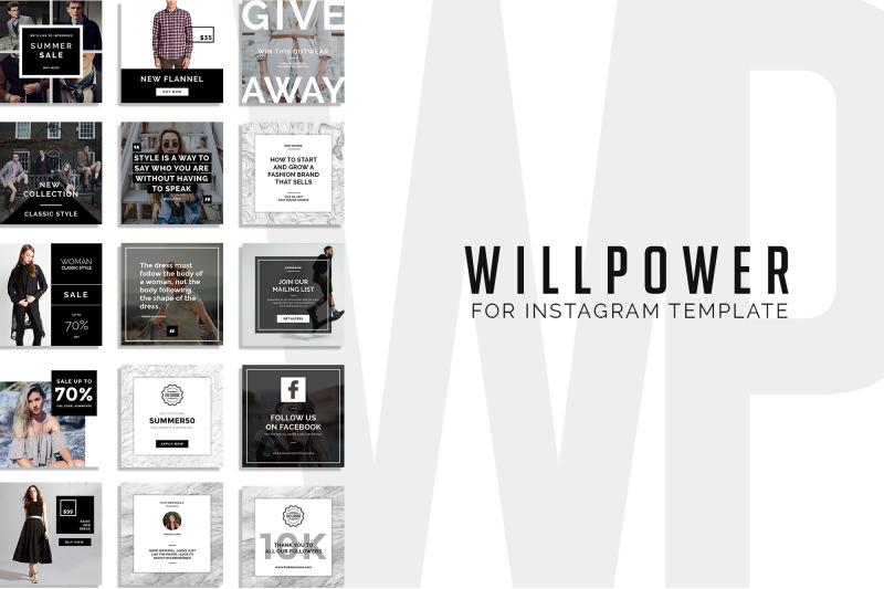 will-power-15-instagram-template