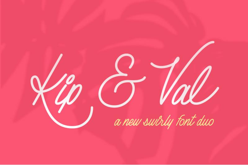 kip-amp-val-scirpt-font-duo