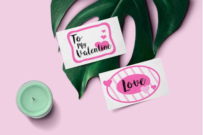 st-valentine-039-s-day-gift-tag-set-pink-heart-message-frame-bubble