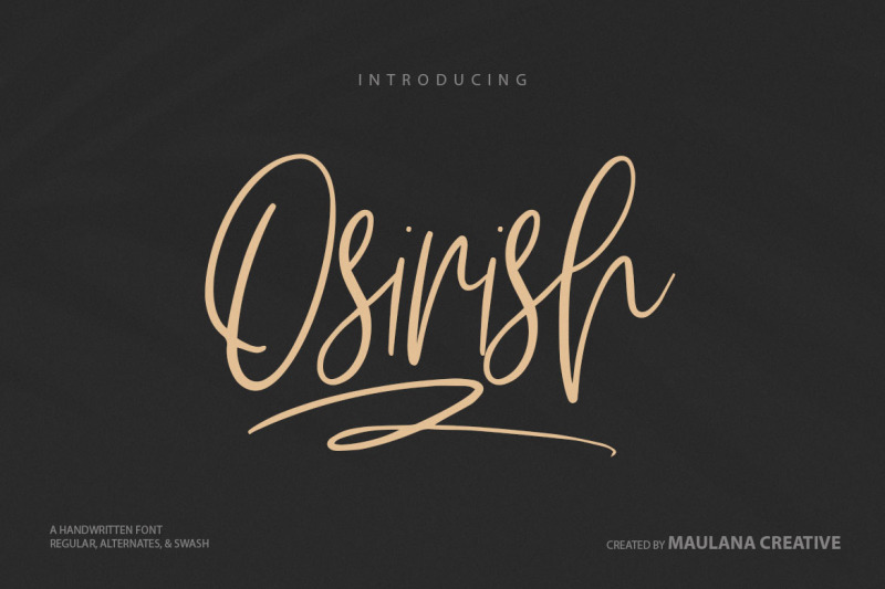 osirish-handwritten-font