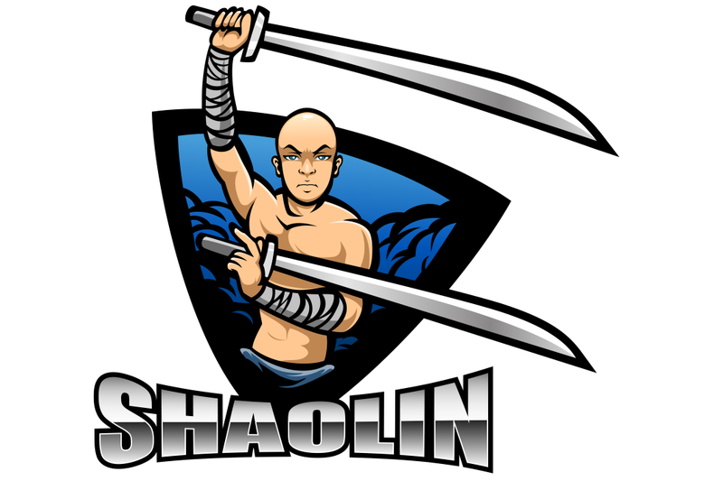 shaolin-esport-mascot-logo-design