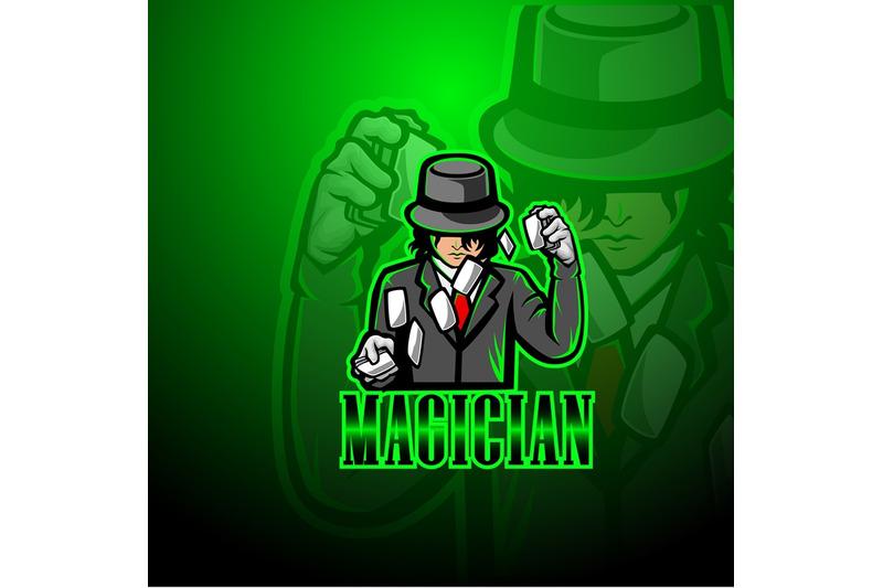 magician-esport-mascot-logo-design