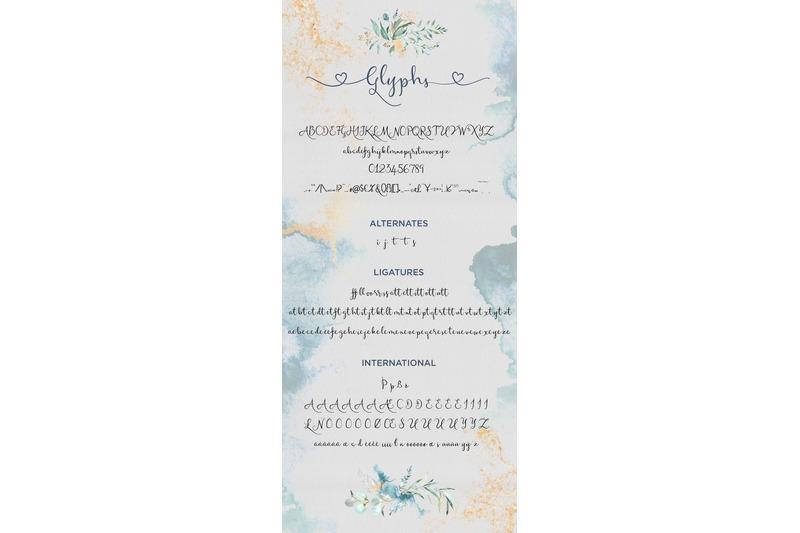 waterfalls-wedding-font-love-font-heart-swash-font