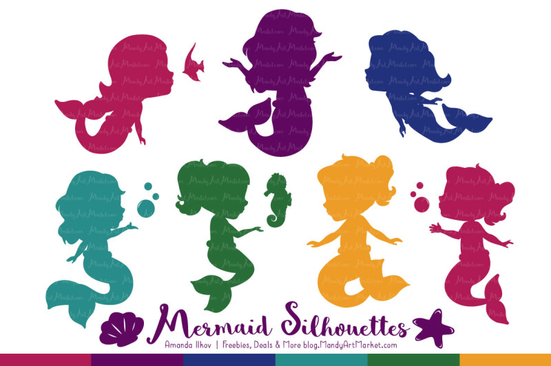 sweet-mermaid-silhouettes-vector-clipart-in-jewel