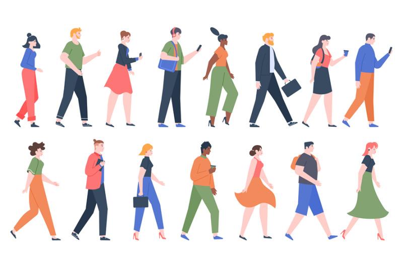 walking-people-business-men-and-women-walk-side-profiles-people-in-s