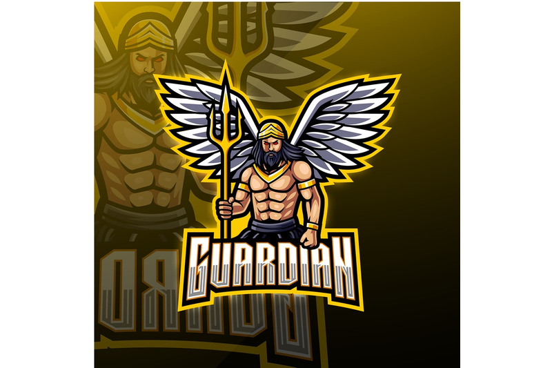 guardian-angel-mascot-logo-design