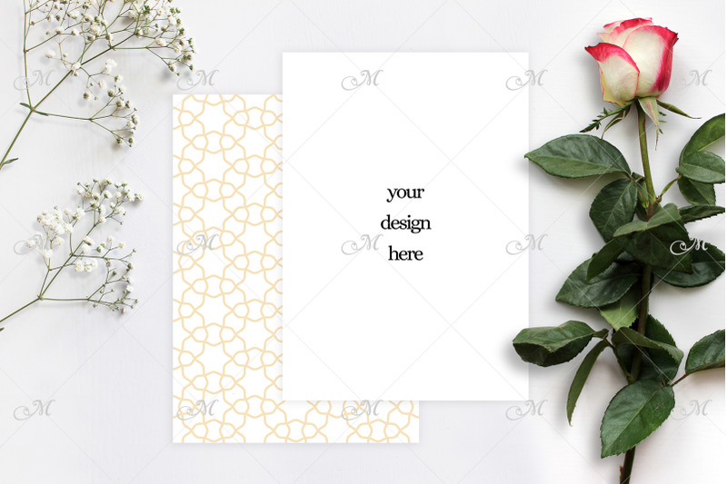 red-white-rose-and-paper-mock-up