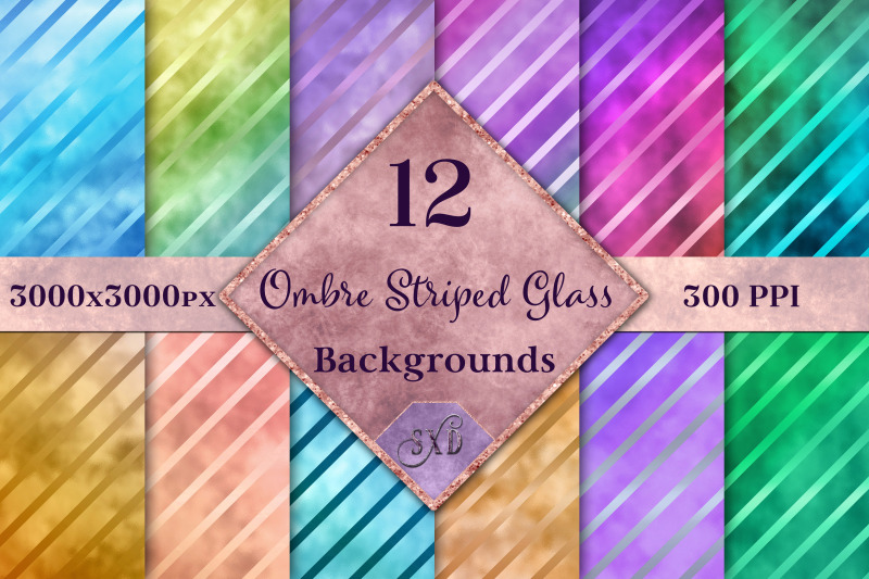 ombre-striped-glass-backgrounds-12-image-textures-set