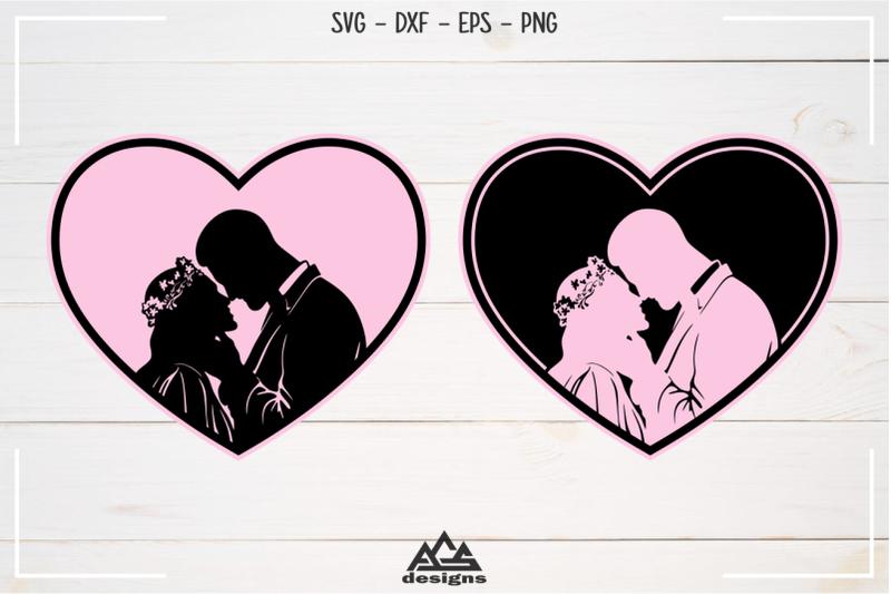 wedding-couple-sillhoutte-svg-design