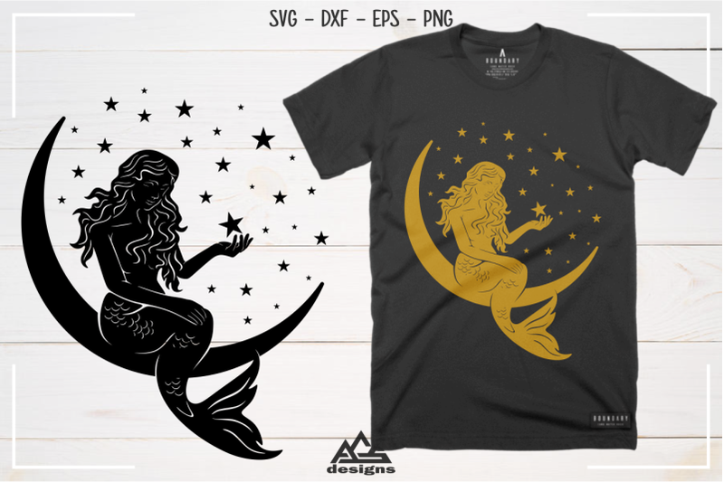 cute-mermaid-moon-stars-sillhoutte-svg-design
