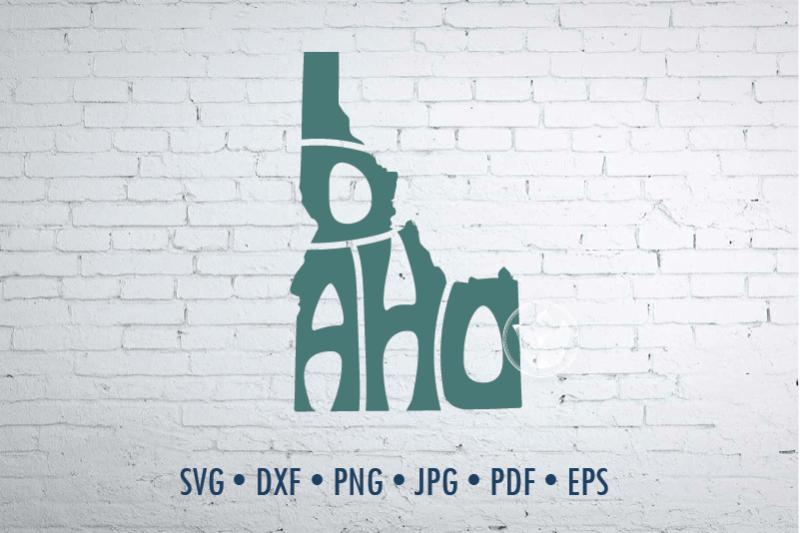 idaho-word-art-svg-dxf-eps-png-jpg-cut-file