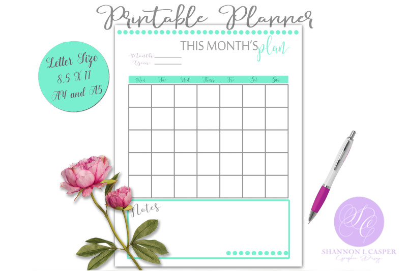monthly-planner-printable-page
