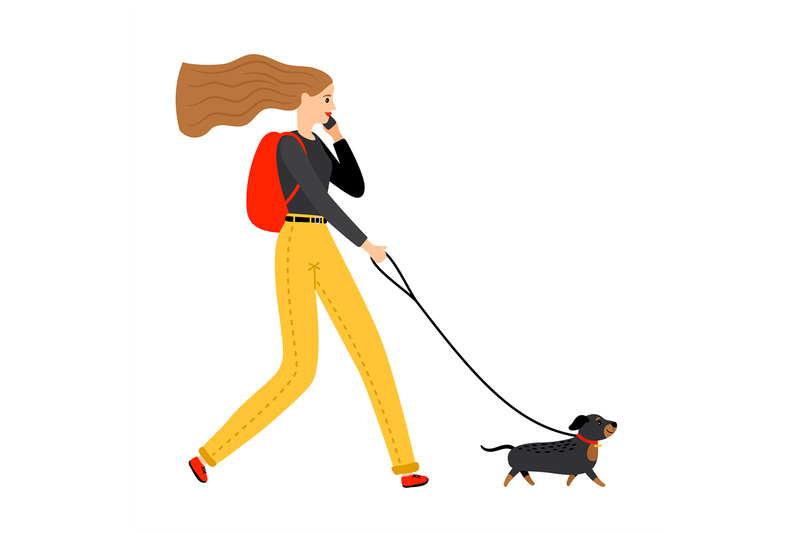 woman-walking-with-dog
