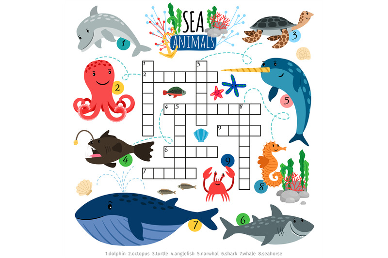 ocean-animals-crosswords-game-for-kids