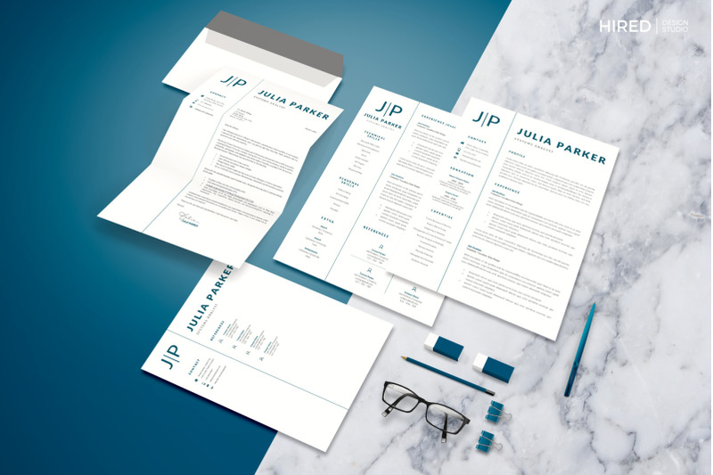 professional-resume-for-apple-pages-or-ms-word-matching-cover-letter