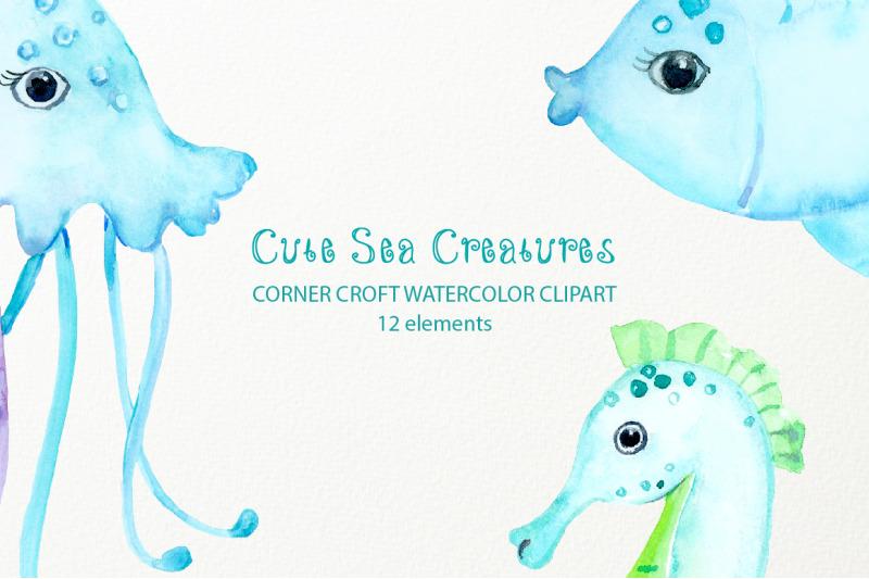 watercolor-sea-creatures