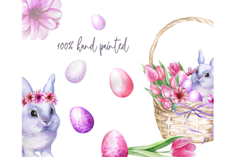 watercolor-easter-set-with-bunnies-eggs-and-flowers