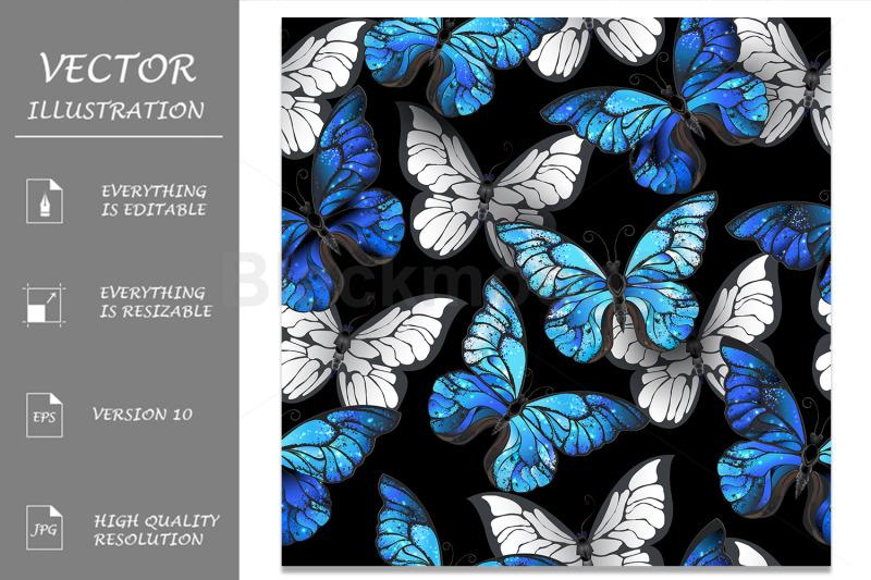 dark-seamless-pattern-with-blue-butterflies