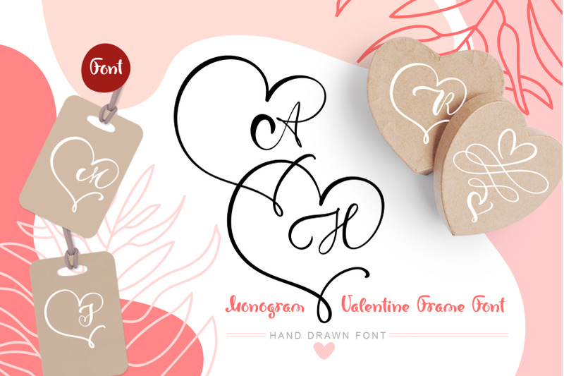monogram-heart-flourish-font
