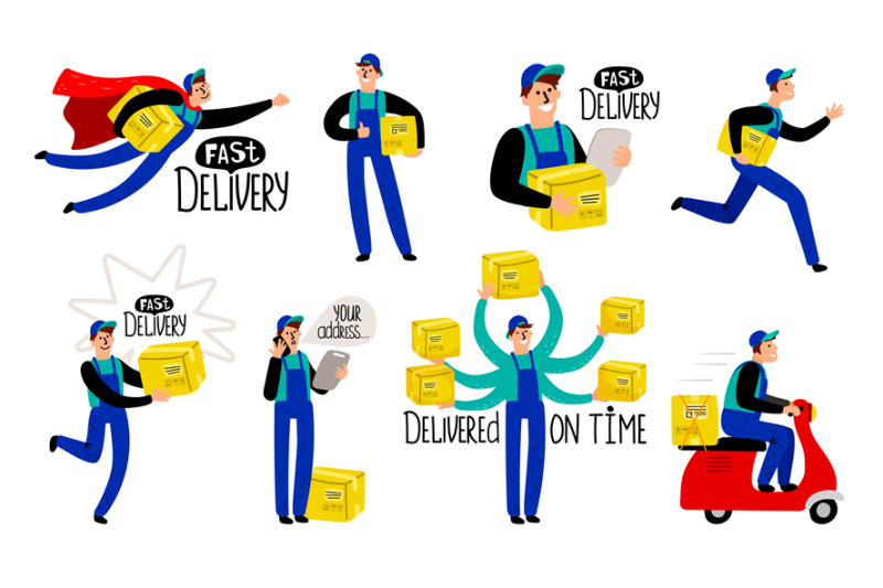 cartoon-delivery-courier