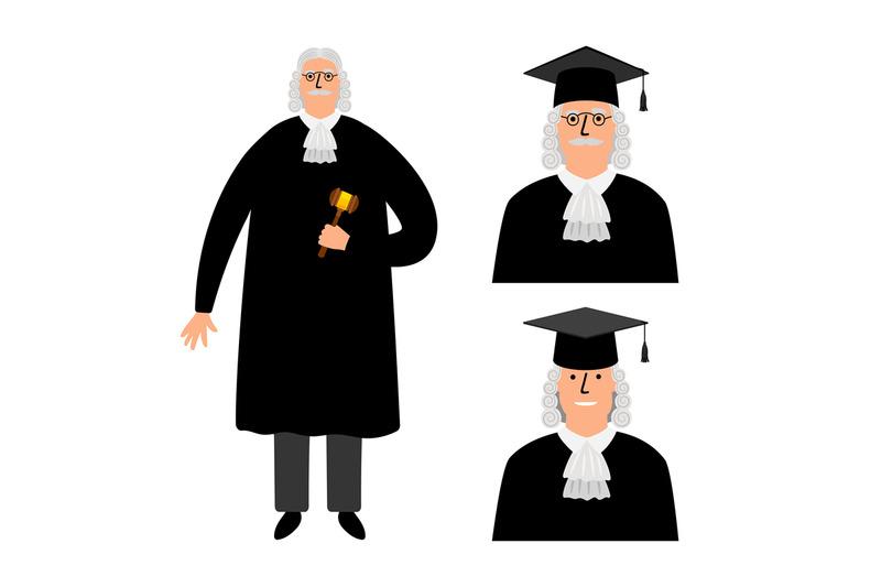 richter-cartoon-judge-vector-illustration-legal-court-character-in-m