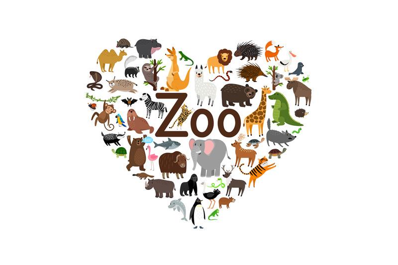 zoo-heart-shape-illustration