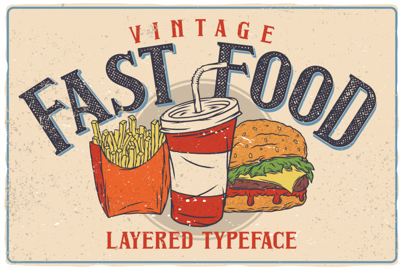 fast-food-layered-typeface