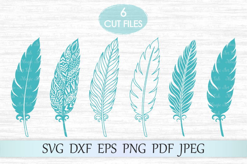 feather-svg-zentangle-feather-svg-feather-mandala-svg-feathers