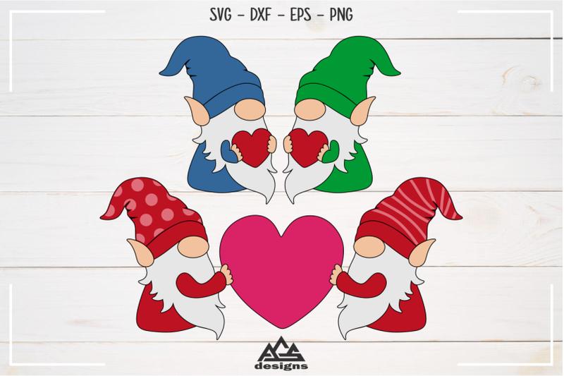 love-valentine-gnome-bundle-svg-design