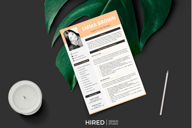 cv  modern resume with photo   references   resume writing