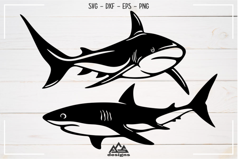sharks-sillhoutte-packs-svg-design