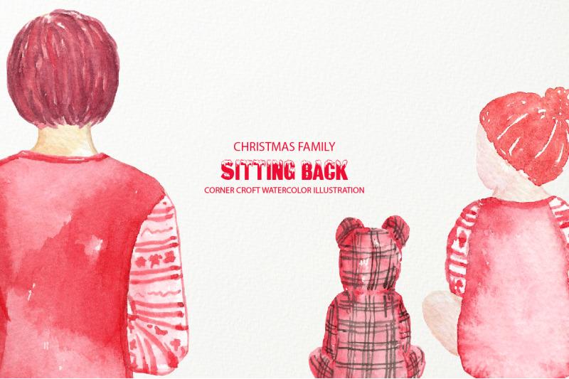 christmas-family-sitting-back