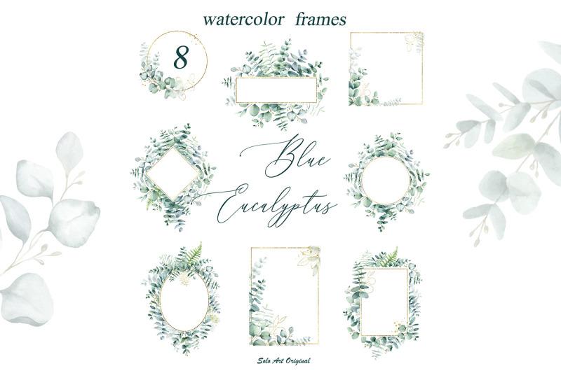 blue-eucalyptus-wreathes-and-freames-watercolor-collection