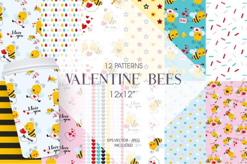 valentine-bees-paper