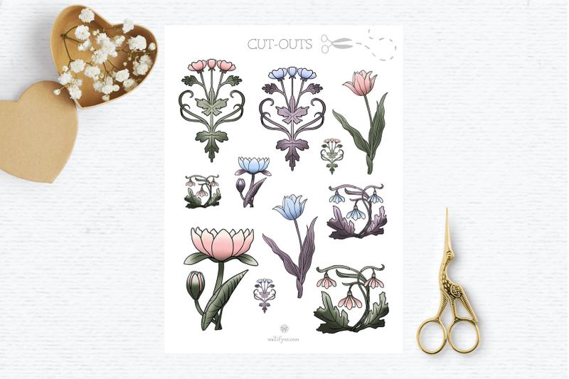 Vintage clipart, spring clipart, flower clipart, wedding ...
