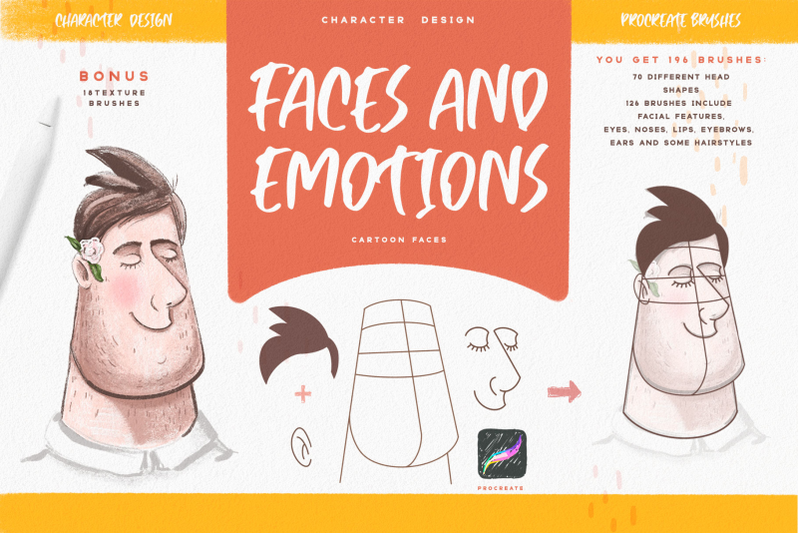 faces-amp-emotions-procreate-brush