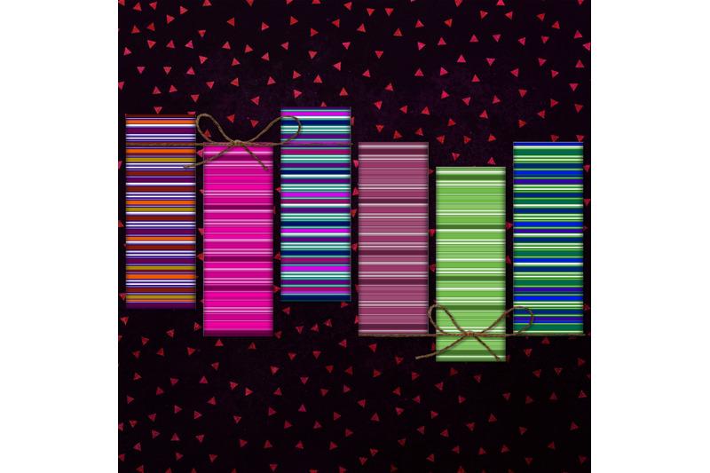 stripes-digital-bookmarks-stripes-printable-color-stripes