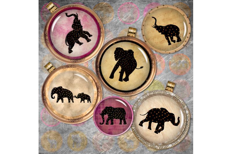 elephants-digital-printable-sheet-cabochon-images