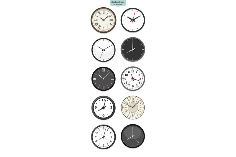 10-clock-face-illustrations