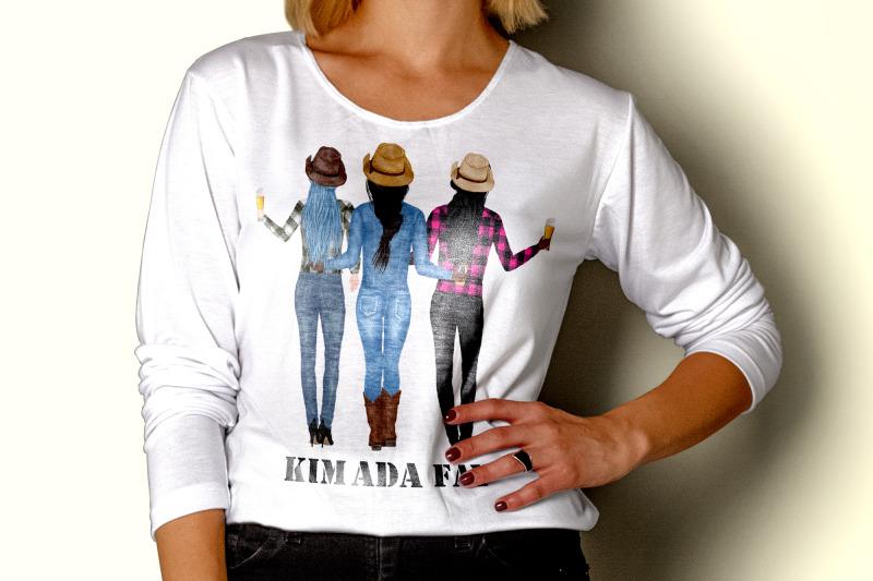 best-friends-clipart-cowgirls-clipart-western-girls