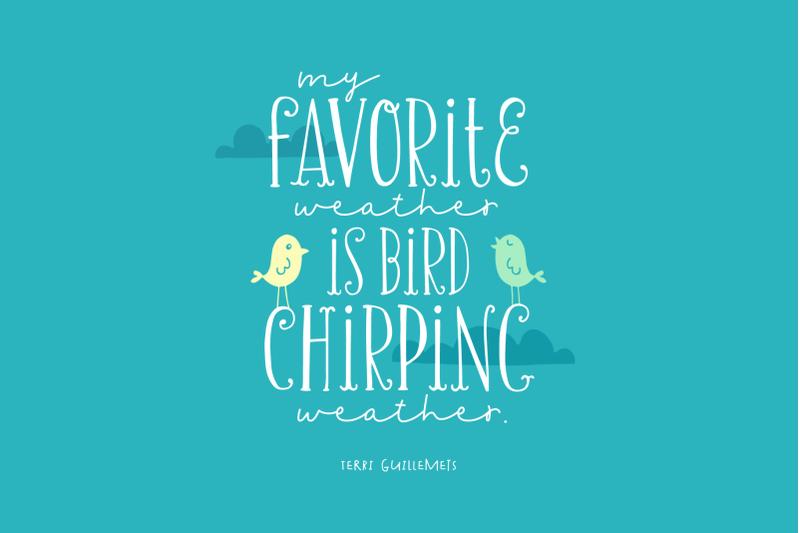 chirp-amp-amp-blossom-font