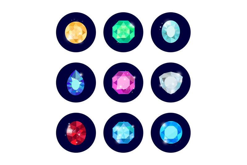 shine-diamond-icons-set