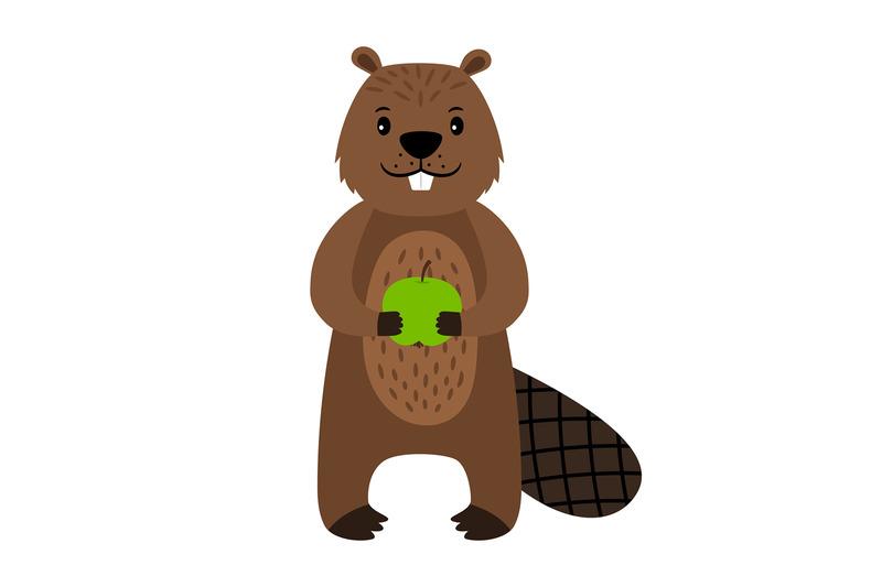 beaver-vector-cartoon-beaver-character-isolated