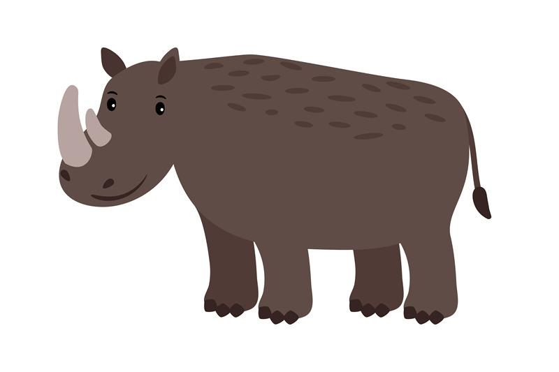 rhino-grey-safary-animal-icon