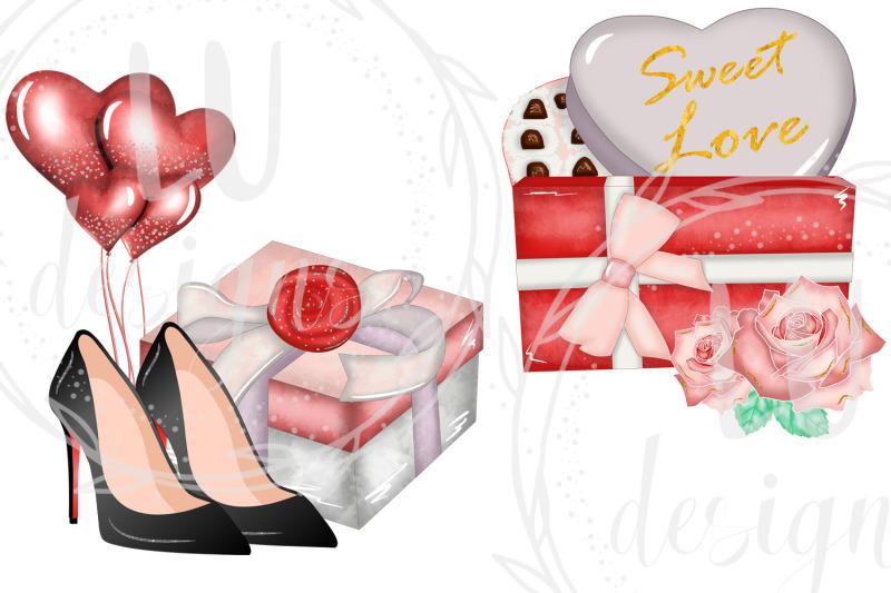 valentines-clipart-romantic-girl-graphics-love-illustrations
